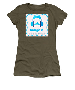 Headphones - Women's T-Shirt - Indigo G