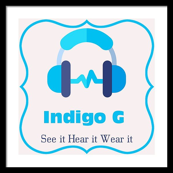 Headphones - Framed Print - Indigo G