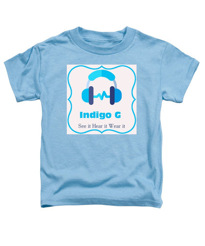 Headphones - Toddler T-Shirt - Indigo G