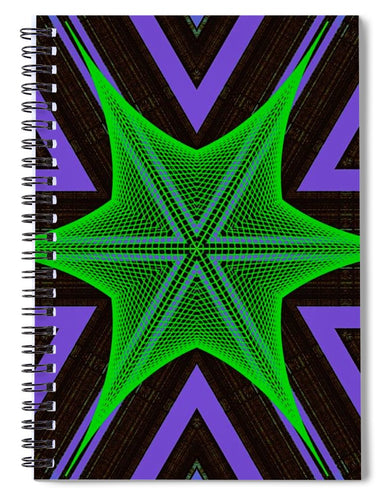 Hexaweb - Spiral Notebook - Indigo G