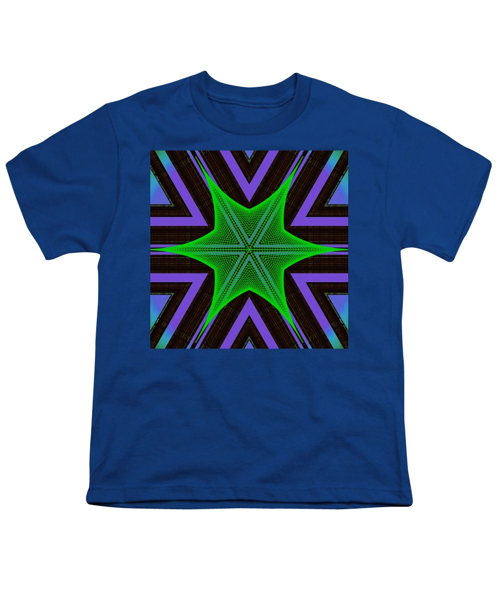Hexaweb - Youth T-Shirt - Indigo G