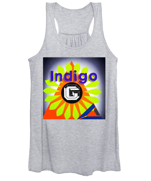 Orange Pyramid - Women's Tank Top - Indigo G