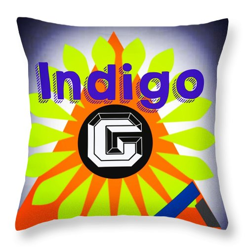 Orange Pyramid - Throw Pillow - Indigo G