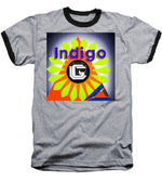 Load image into Gallery viewer, Orange Pyramid - Baseball T-Shirt - Indigo G