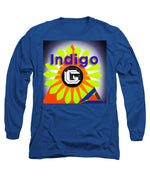 Load image into Gallery viewer, Orange Pyramid - Long Sleeve T-Shirt - Indigo G