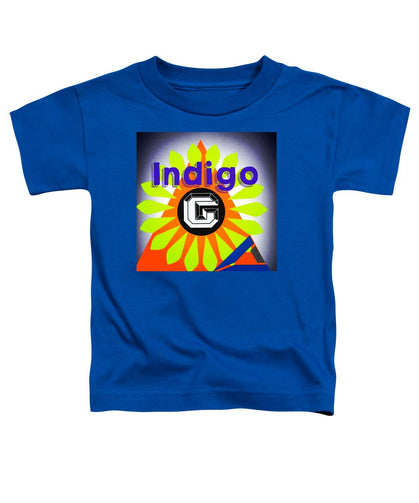 Orange Pyramid - Toddler T-Shirt - Indigo G