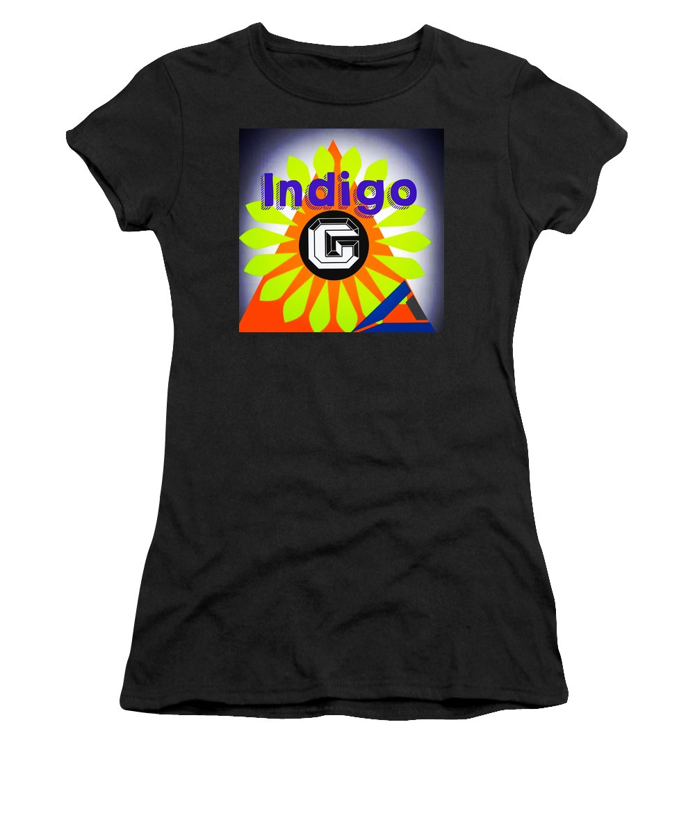 Orange Pyramid - Women's T-Shirt - Indigo G