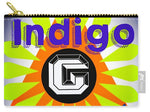 Load image into Gallery viewer, Orange Pyramid - Carry-All Pouch - Indigo G