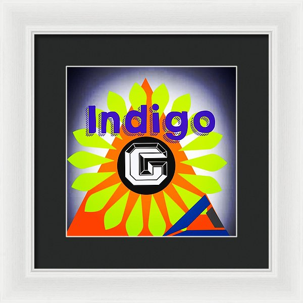 Orange Pyramid - Framed Print - Indigo G