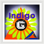 Load image into Gallery viewer, Orange Pyramid - Framed Print - Indigo G