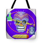 Load image into Gallery viewer, Peace Speakers - Tote Bag - Indigo G
