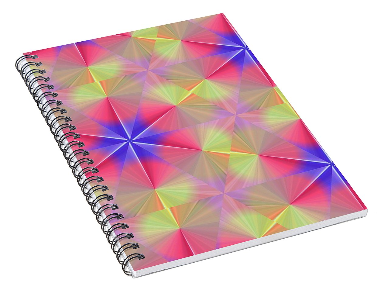 Peach Swirls - Spiral Notebook