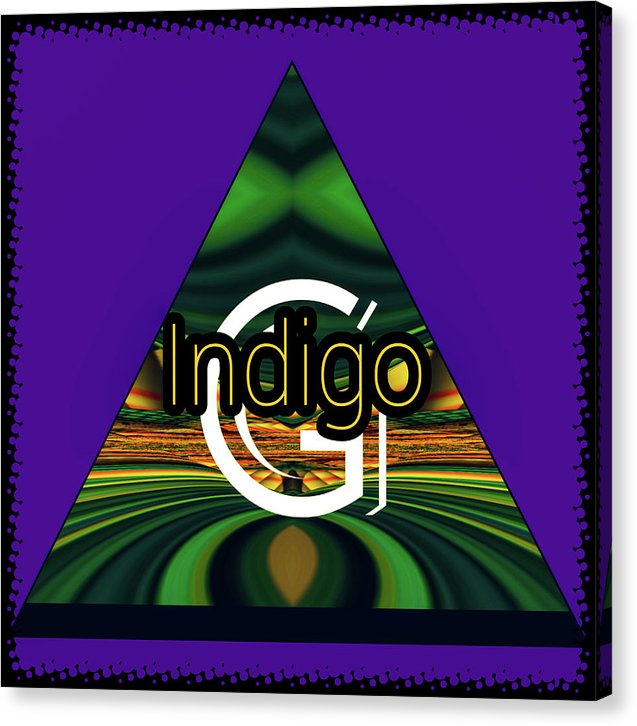 Purple Blotter - Canvas Print - Indigo G