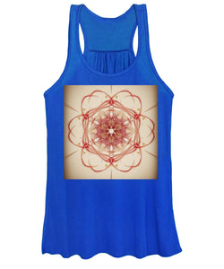 Retro Napkin Notes Women's Tank Top - Indigo G - Indigo G