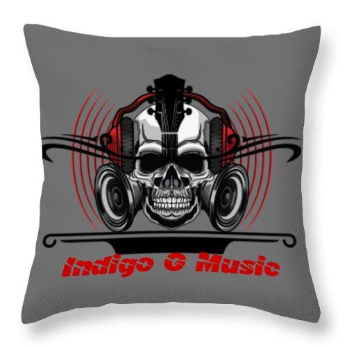 Skull Phones - Throw Pillow
