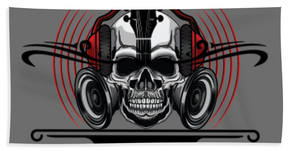 Skull Phones - Beach Towel