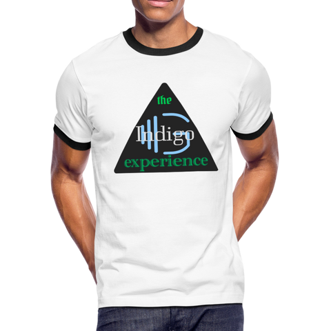 Black Triangle - Men's Ringer T-Shirt - Indigo G - Indigo G