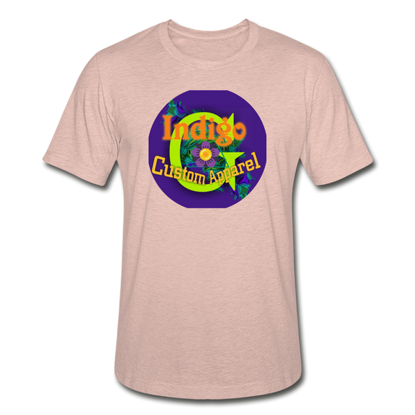 Purple Circle - Unisex Heather Prism T-Shirt - Indigo G - Indigo G