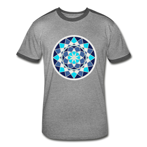 Blue Flower of - Life Men's Retro T-Shirt - heather gray/charcoal