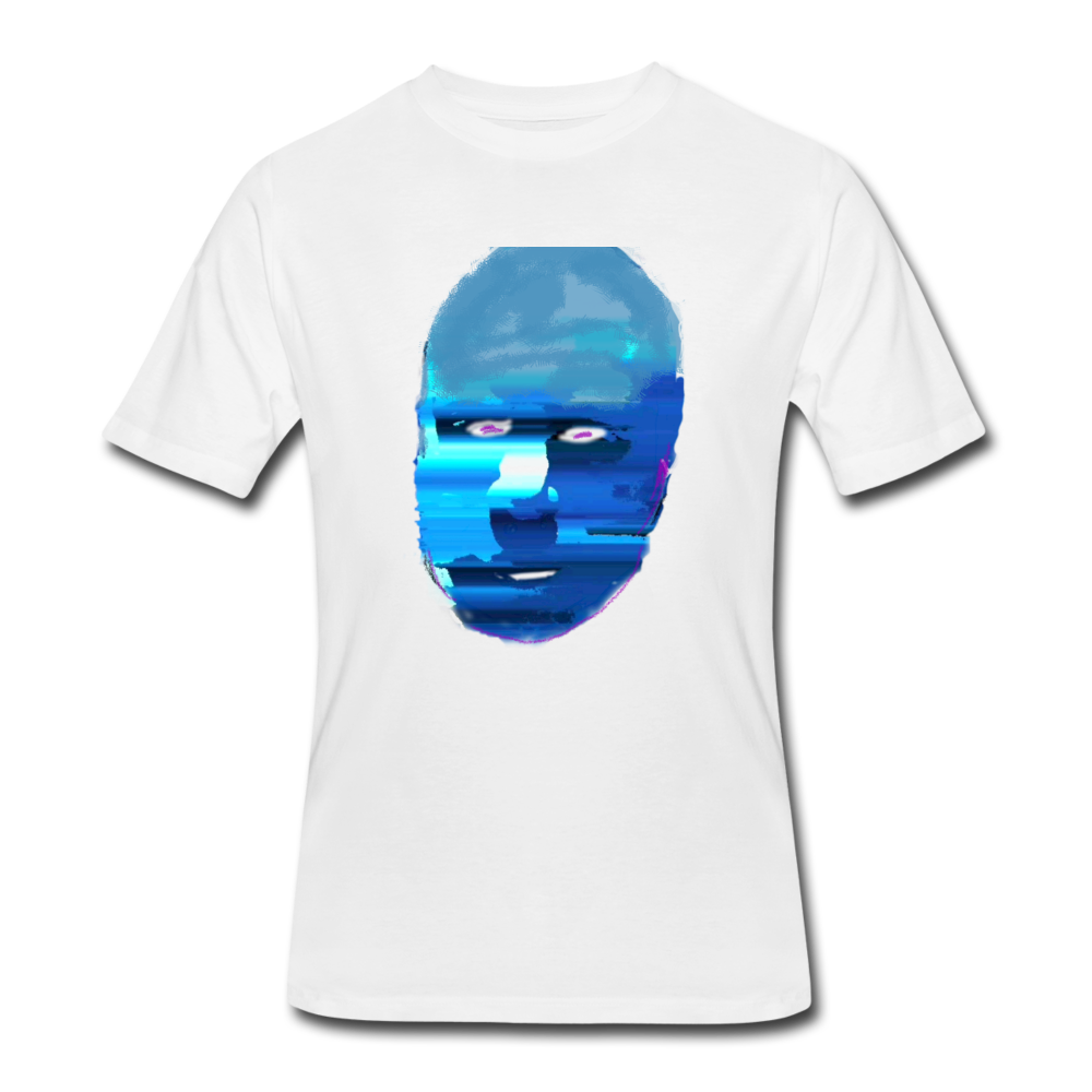 Blue Face 1 - Men's 50/50 T-Shirt - white