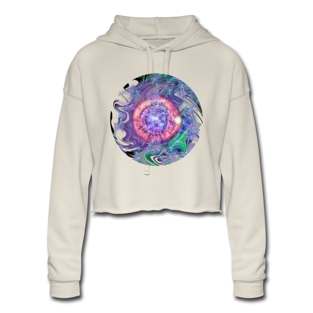 Storm's Eye - Women's Cropped Hoodie - dust