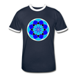 Life Flower 6 - Men's Retro T-Shirt - navy/white