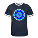 Load image into Gallery viewer, Life Flower 6 - Men's Retro T-Shirt - navy/white