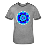 Load image into Gallery viewer, Life Flower 6 - Men's Retro T-Shirt - heather gray/charcoal