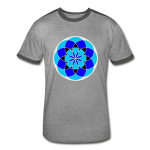 Life Flower 6 - Men's Retro T-Shirt - heather gray/charcoal