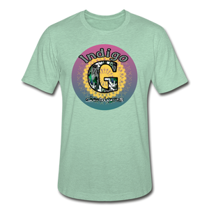 Sunset - Unisex Heather Prism T-Shirt - heather prism mint