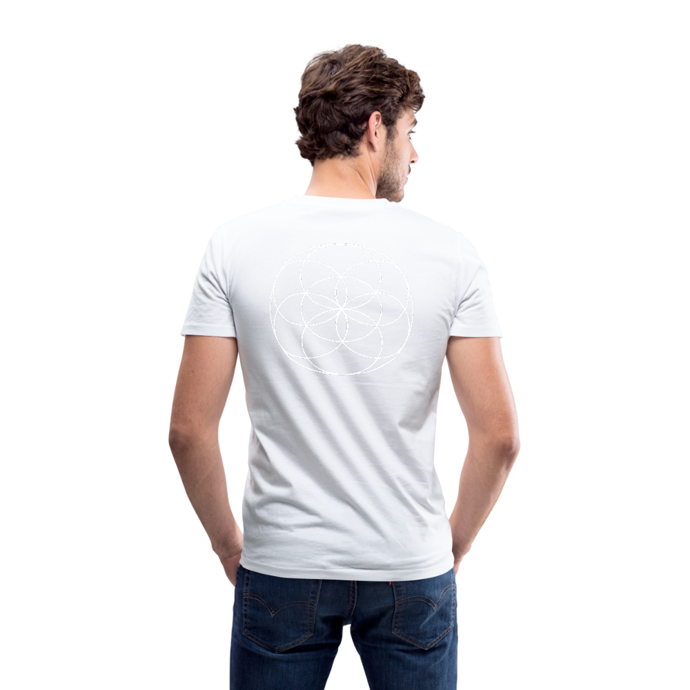Seed Tears - Men's V-Neck T-Shirt by Canvas - white
