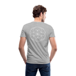 Load image into Gallery viewer, Seed Tears - Men's V-Neck T-Shirt by Canvas - heather gray