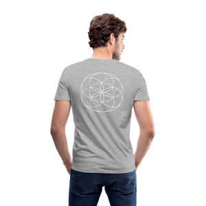 Seed Tears - Men's V-Neck T-Shirt by Canvas - heather gray