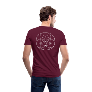 Seed Tears - Men's V-Neck T-Shirt by Canvas - maroon