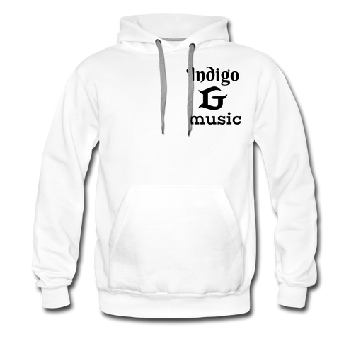 Music Face - Men's Premium Hoodie - white
