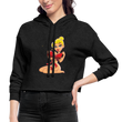 Sexy 1 - Women's Cropped Hoodie - deep heather