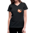 Sexy 3 - Women's V-Neck T-Shirt - black