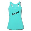 Delicious - Women's Tri-Blend Racerback Tank - turquoise