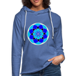Blue Flower 3 - Unisex Lightweight Terry Hoodie - heather Blue