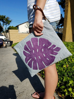 [Bag Pattern] Monstera Clutch