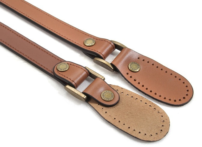 "23.8"" byhands 100% Genuine Leather Purse Handles, Shoulder Bag Strap, Tan (30-6001)"