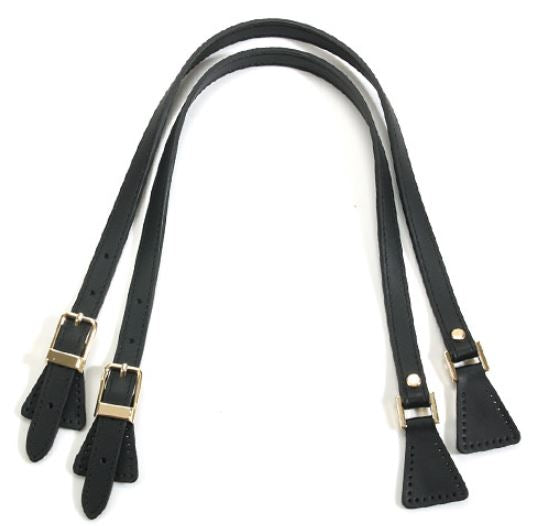 "24.8"" byhands Genuine Leather Adjustable Buckle Shoulder Bag Strap Gold Style Ring (32-6402)"