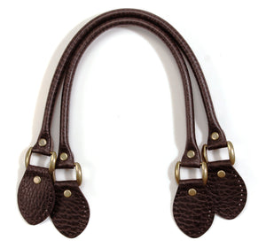 "18.9"" byhands 100% Genuine Leather Purse Handles/Tote Bag Handles, Embossed Style (22-4801)"