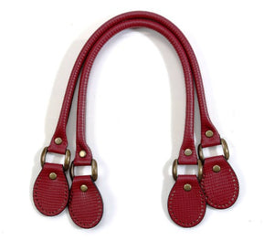 "19.3"" byhands 100% Genuine Leather Wine Purse Handles/Tote Bag Handles, Crack Pattern (24-4901)"
