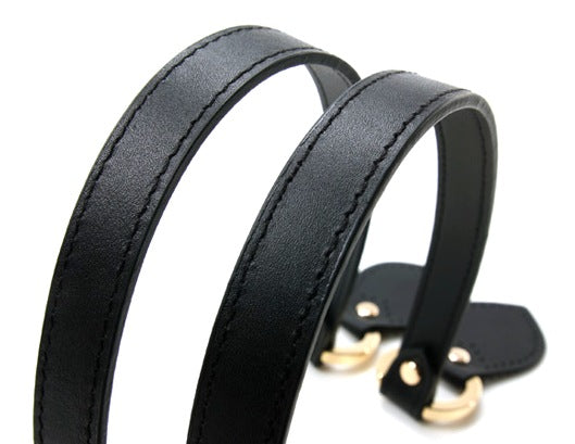 "21"" byhands Genuine Leather Purse Handles, Bag Strap, Gold Style Ring (22-5301)"