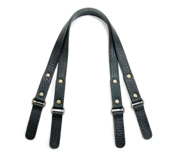 "22.8"" byhands Embossed Genuine Leather Purse Handles, Shoulder Bag Strap (22-5802)"