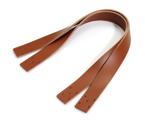 "14.5"" byhands Natural Rawhide Leather Purse Handles/Bag Strap, Tan (24-3702)"