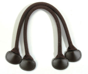 "18.1"" byhands Webbing Purse Handles, Bag Strap with Genuine Leather Tab (24-4003)"