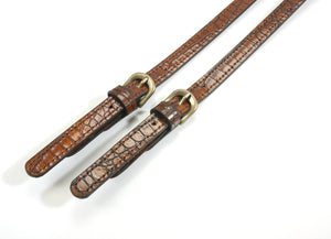 "28"" byhands Genuine Leather Purse Handles, Shoulder Bag Strap, Crocodile Pattern (30-5505)"