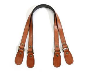 "23.8"" byhands Genuine Leather Tan Purse Handles, Shoulder Bag Strap, Crack Pattern (30-6001)"